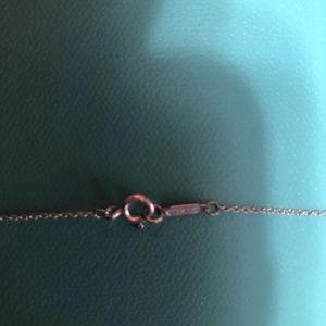 Jewelry - Blue Tiffany Heart Key and Chain